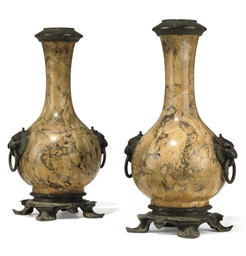 A PAIR OF FRENCH BRONZE-MOUNTE