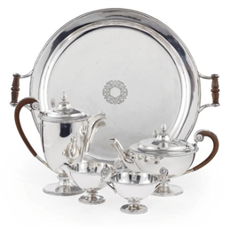 A FOUR-PIECE SILVER TEA SERVIC