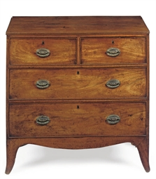 A GEORGE III MAHOGANY CHEST
