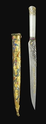 A JADE-HILTED DAGGER WITH ENAM