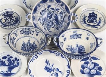 An assorted lot of Danish blue