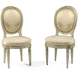 A PAIR OF DANISH PARCEL-GILT A