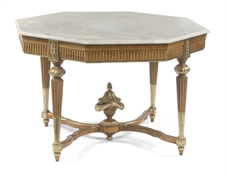 A DANISH PARCEL-GILT AND ALDER