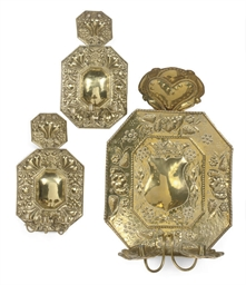A PAIR OF NORTH EUROPEAN BRASS