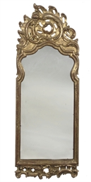 A DANISH GILTWOOD MIRROR