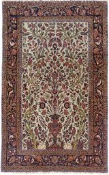 A KASHAN PRAYER RUG