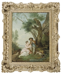 A shepherd and shepherdess mak