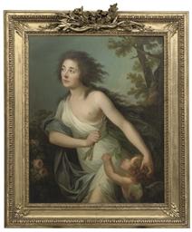Portrait of a lady as Diana wi