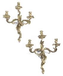 A PAIR OF FRENCH ORMOLU THREE