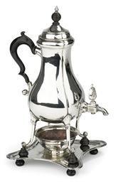 A Dutch silver coffee urn with