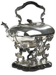 A Dutch silver tea-kettle and