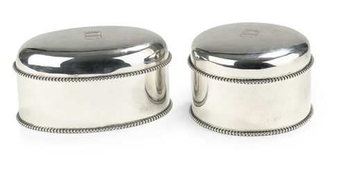 Two Dutch silver biscuit-boxes