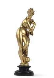A GILT-BRONZE FIGURE OF VENUS