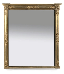 A WILLIAM IV GILTWOOD MIRROR