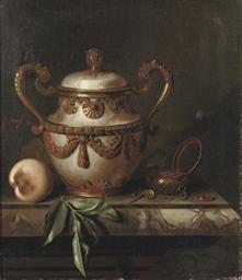 An eleborately decorated vase,
