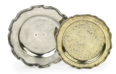 A German silver-gilt dish and