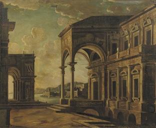 An architectural 'capriccio' w