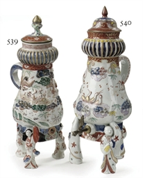 A Japanese Imari coffee-pot an