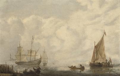 Shipping in a calm sea