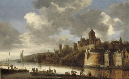 A view of Nijmegen with 'Het V