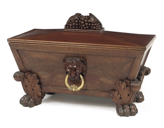 A GERMAN MAHOGANY WINE COOLER