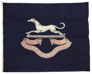 A LARGE LINEN FLAG