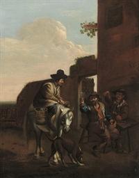 Peasants outside a tavern