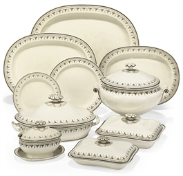 A WEDGWOOD CREAMWARE PART DINN