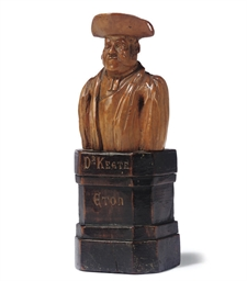 A GEORGE IV BOXWOOD BUST OF DR