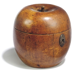A GEORGE III FRUITWOOD APPLE S