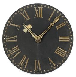 A VICTORIAN SLATE CLOCK FACE