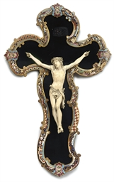A FRENCH IVORY CRUCIFIX
