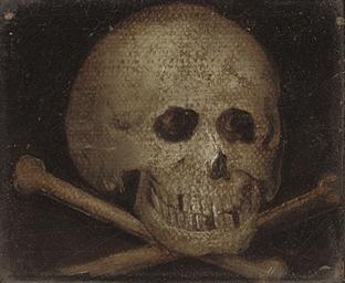 A memento mori with a skull an