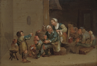 Peasants in a kitchen interior