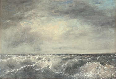 A seascape with choppy water