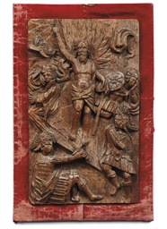 A FLEMISH OAK RELIEF PANEL OF
