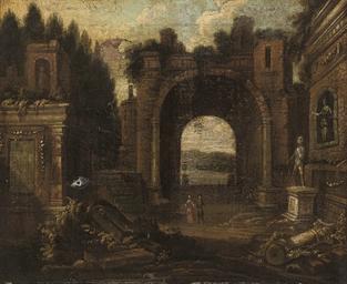 An architectural capriccio of