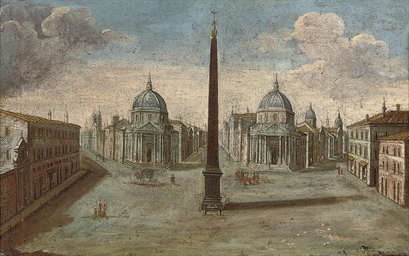 The Piazza del Popolo, Rome, l