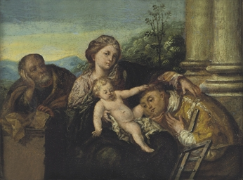 The Holy Family with Saint Lau