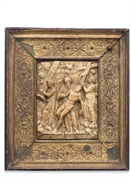 A MALINES ALABASTER PANEL OF J