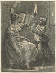 A Sybil with a Child holding a