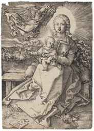 The Virgin and Child crowned b