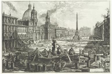 Veduta di Piazza Navona sopra
