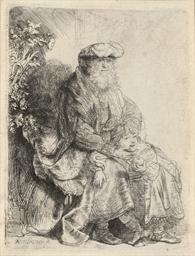 Abraham caressing Benjamin (B.