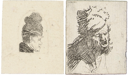 Head of a Man in a Fur Cap, cr