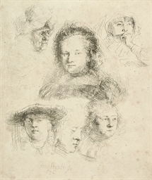 Studies of the Head of Saskia