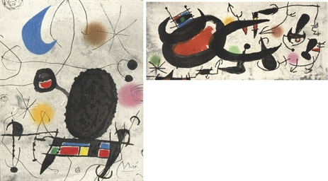 Two plates from: Miró - L'Oise