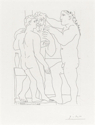 Deux Hommes sculptés, from La