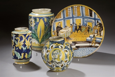 GRAND ALBARELLO EN FAIENCE ITA