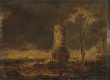 Bord de mer avec une tour en r
